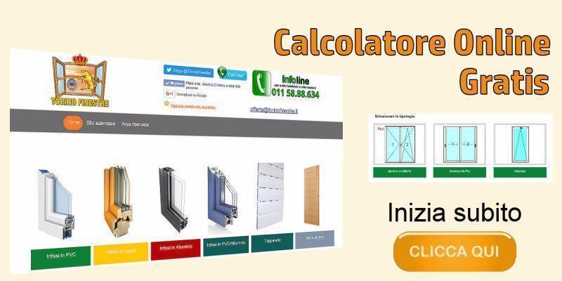 Preventivo online per infissi serramenti porte e finestre for Porte e finestre pvc