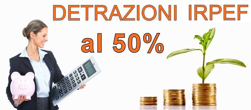 Detrazioni Porte Interne 50%