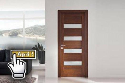 Porte interne in massello laminato e laccate store torino finestre - Porte interne con vetro ...