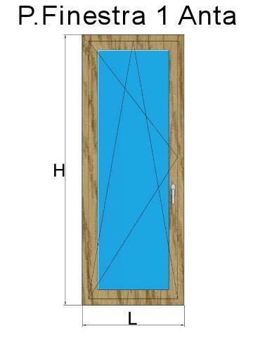Porta Finestra 1 Anta in PVC Rovere Naturale