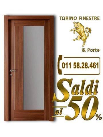 Porta interna con vetro giuliana store torino finestre - Prezzo porta interna ...