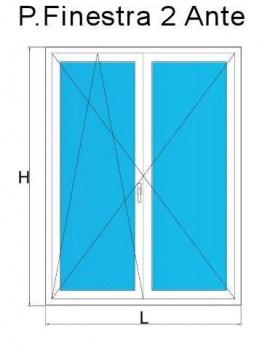 Porte finestre in pvc su misura con offerte a prezzi di for Stock finestre pvc