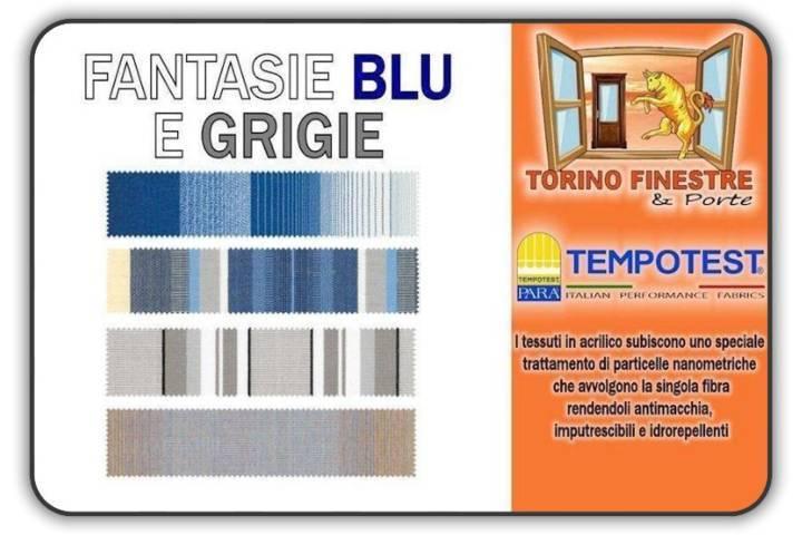 Tende Da Sole Per Esterni Tempotest.Tende Da Sole Tempotest Tessuti Blu E Grigi