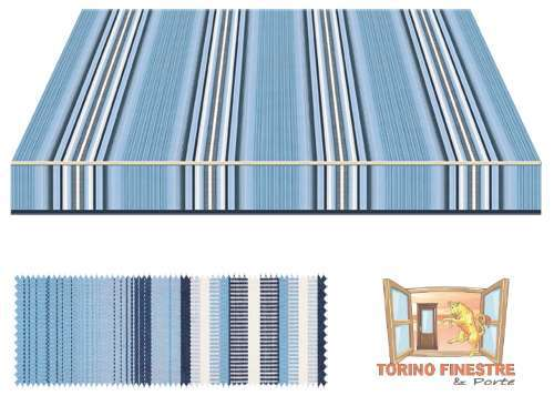 Tende da sole Tempotest Fantasia Blu 636/99